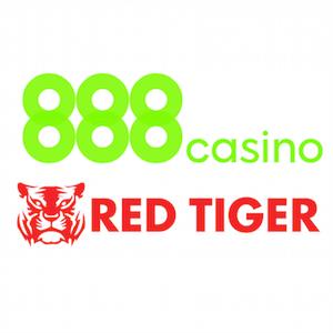 Bei 888 angebotene Red-Tiger-Spielautomaten