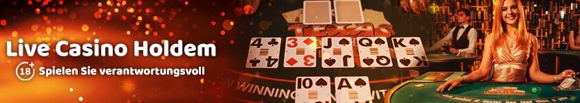 Live casino holdem banner